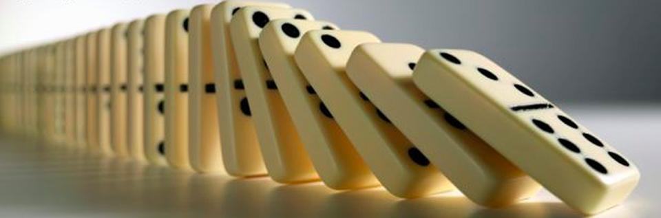 Dominos falling.
