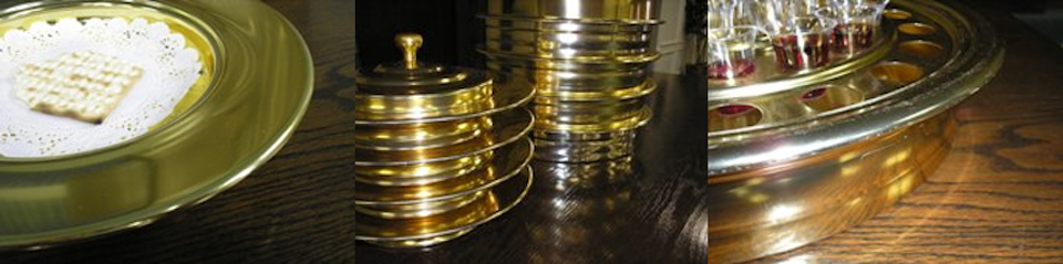 Communion trays.