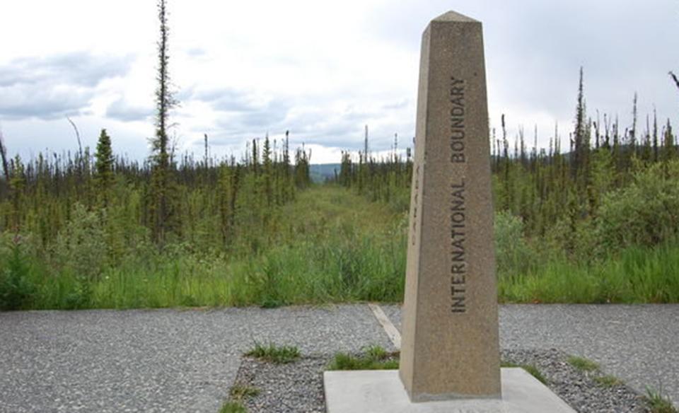 Boundary marker.