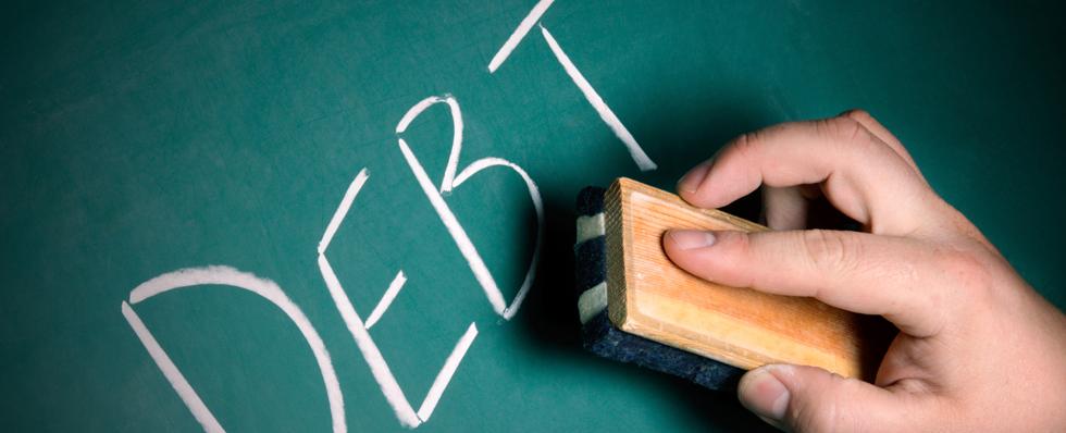 Erasing debt.